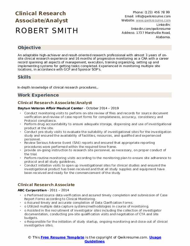 clinical research associate resume samples qwikresume entry level pdf for fresh graduate Resume Entry Level Clinical Research Associate Resume