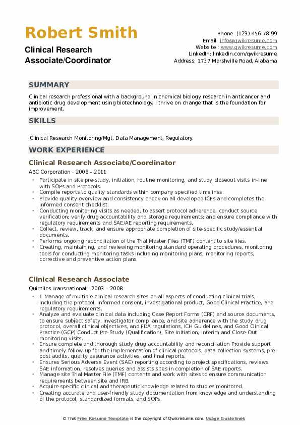 clinical research associate resume samples qwikresume pdf medical billing specialist Resume Clinical Research Associate Resume