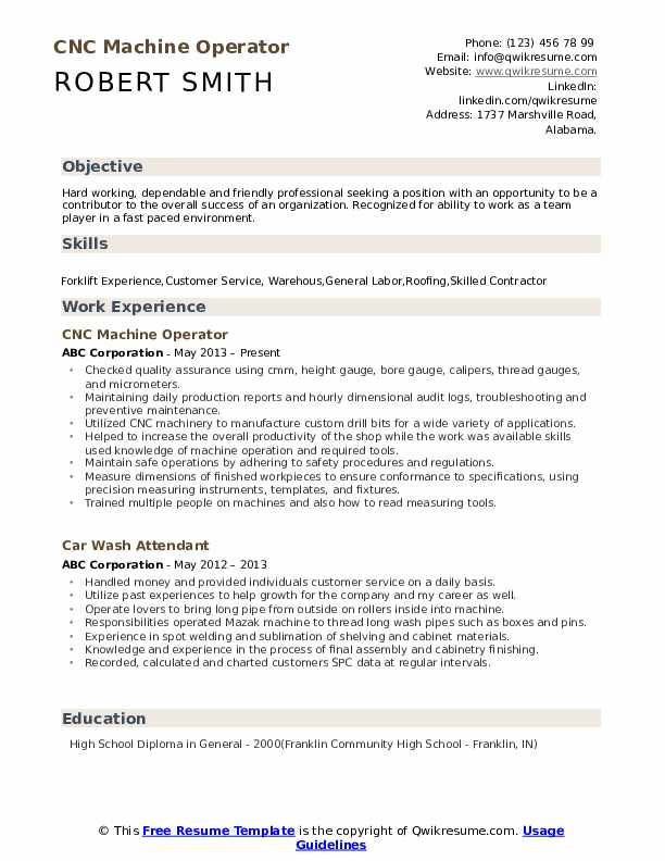 cnc machine operator resume samples qwikresume examples pdf hotel revenue manager asurion Resume Machine Operator Resume Examples