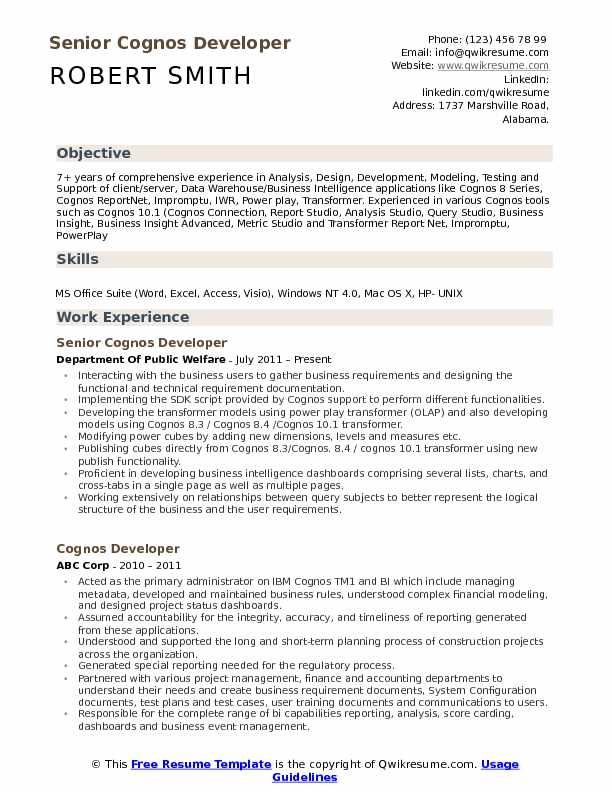 cognos developer resume samples qwikresume sample for report pdf psg marseille letterhead Resume Sample Resume For Cognos Report Developer