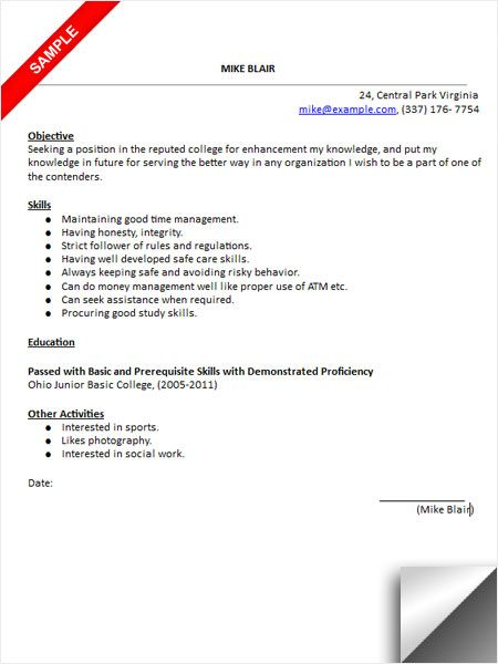 college admissions resume sample template application putting on senior financial analyst Resume Putting College On Resume