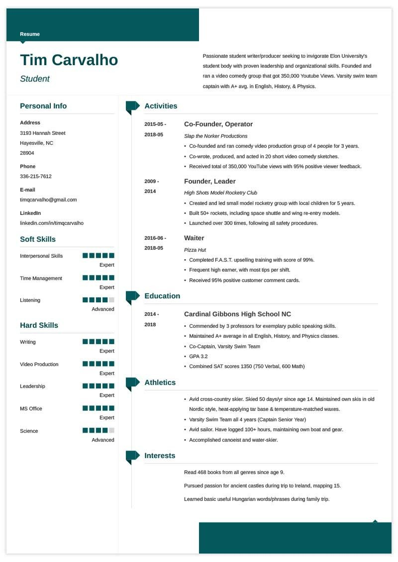 college resume template for high school students admission templates free sample Resume College Admission Resume Templates Free