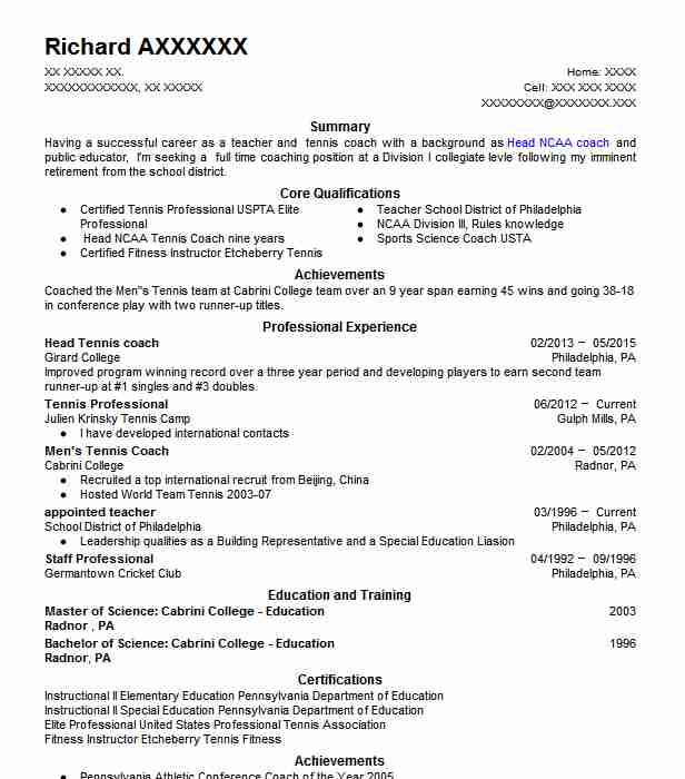 college tennis student resume example of coastal ga for casino host skills housekeeping Resume Tennis Resume For College
