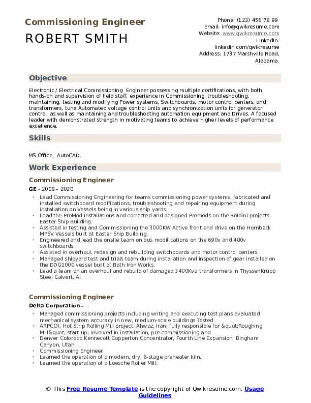 commissioning engineer resume samples qwikresume pdf human resources generalist examples Resume Commissioning Engineer Resume