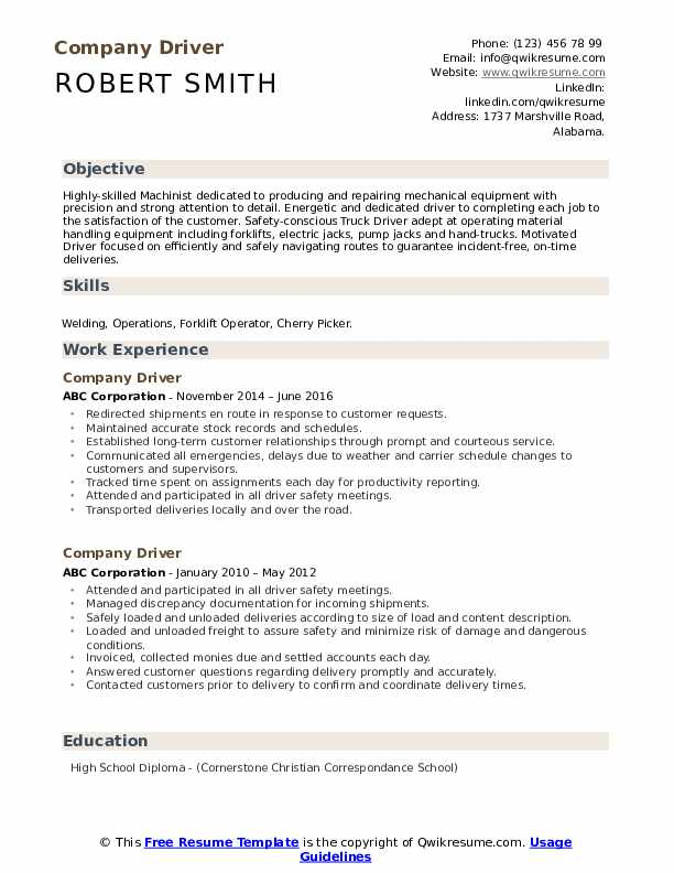 company driver resume samples qwikresume with one term job pdf data science example best Resume Resume With One Long Term Job