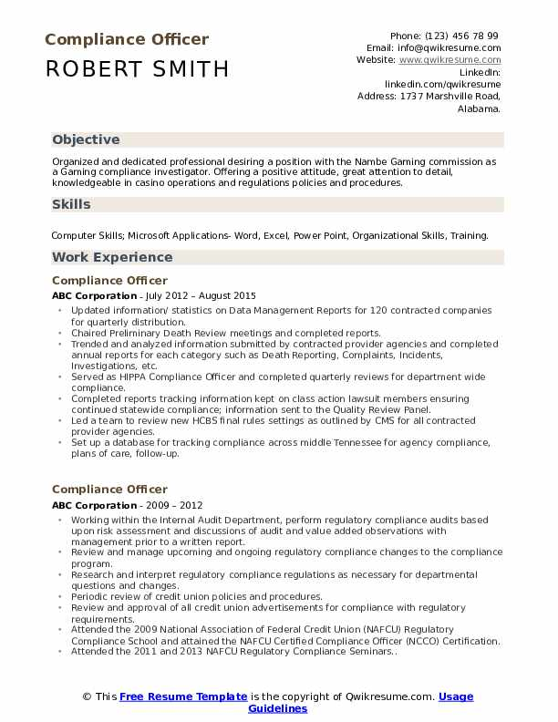 compliance officer resume samples qwikresume template pdf piping foreman receptionist Resume Compliance Officer Resume Template