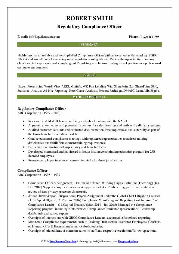 compliance officer resume samples qwikresume template pdf receptionist duties dancer Resume Compliance Officer Resume Template