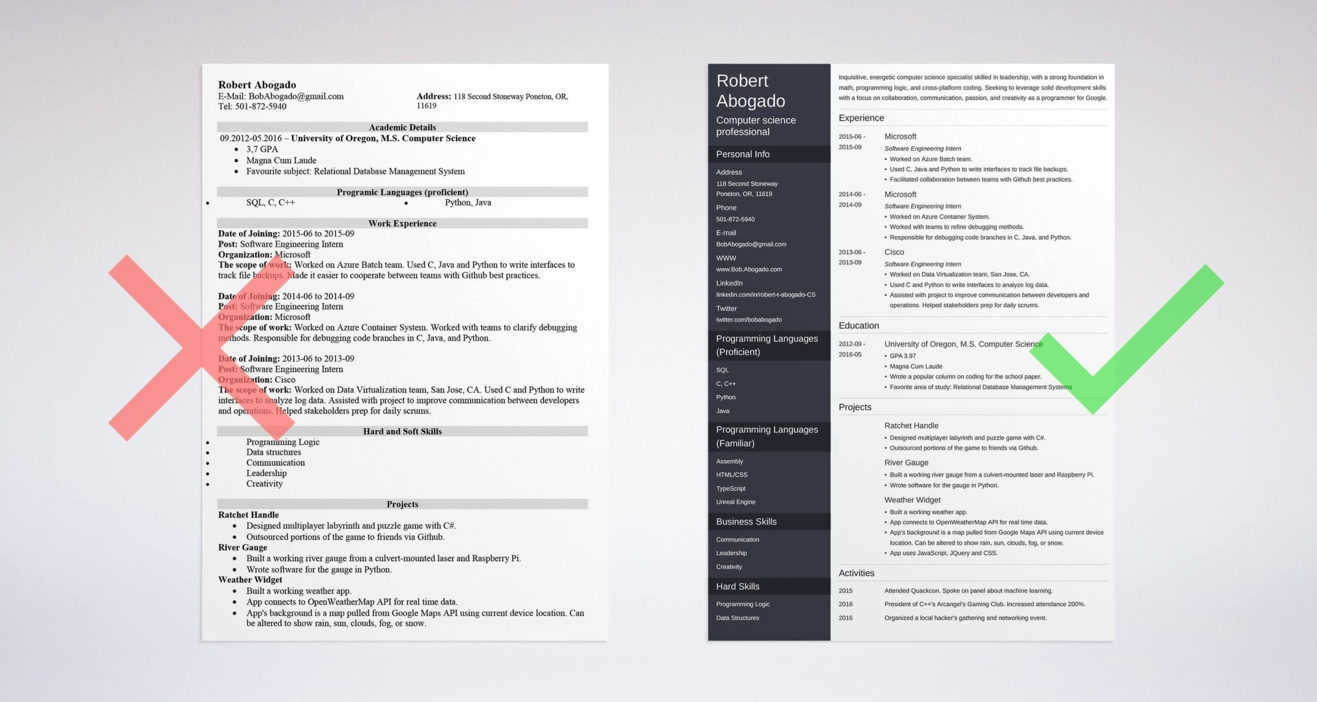 computer science resume example template guide samples experience with software on Resume Computer Science Resume Download