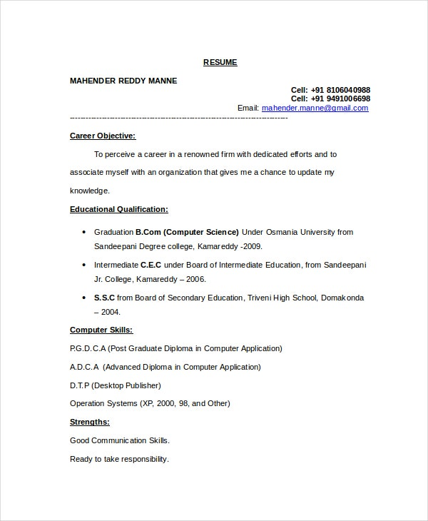 computer science resume templates pdf free premium diploma policy analyst better example Resume Computer Science Resume Download