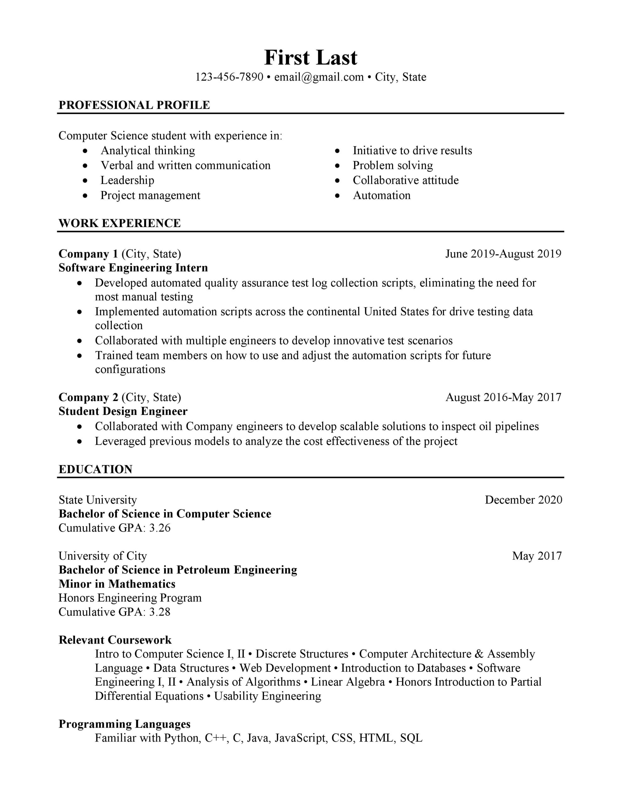 computer science student looking to improve resume resumes programming projects for Resume Programming Projects For Resume Reddit
