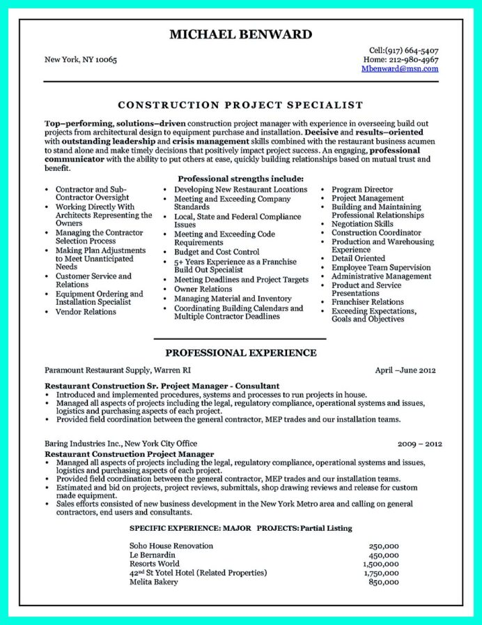 construction superintendent resume examples and samples best pdf objective for management Resume Construction Superintendent Resume Pdf