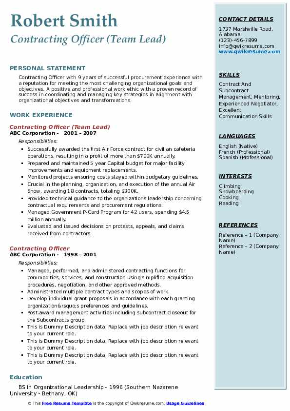 contracting officer resume samples qwikresume government pdf quick free adjectives for Resume Government Contracting Officer Resume