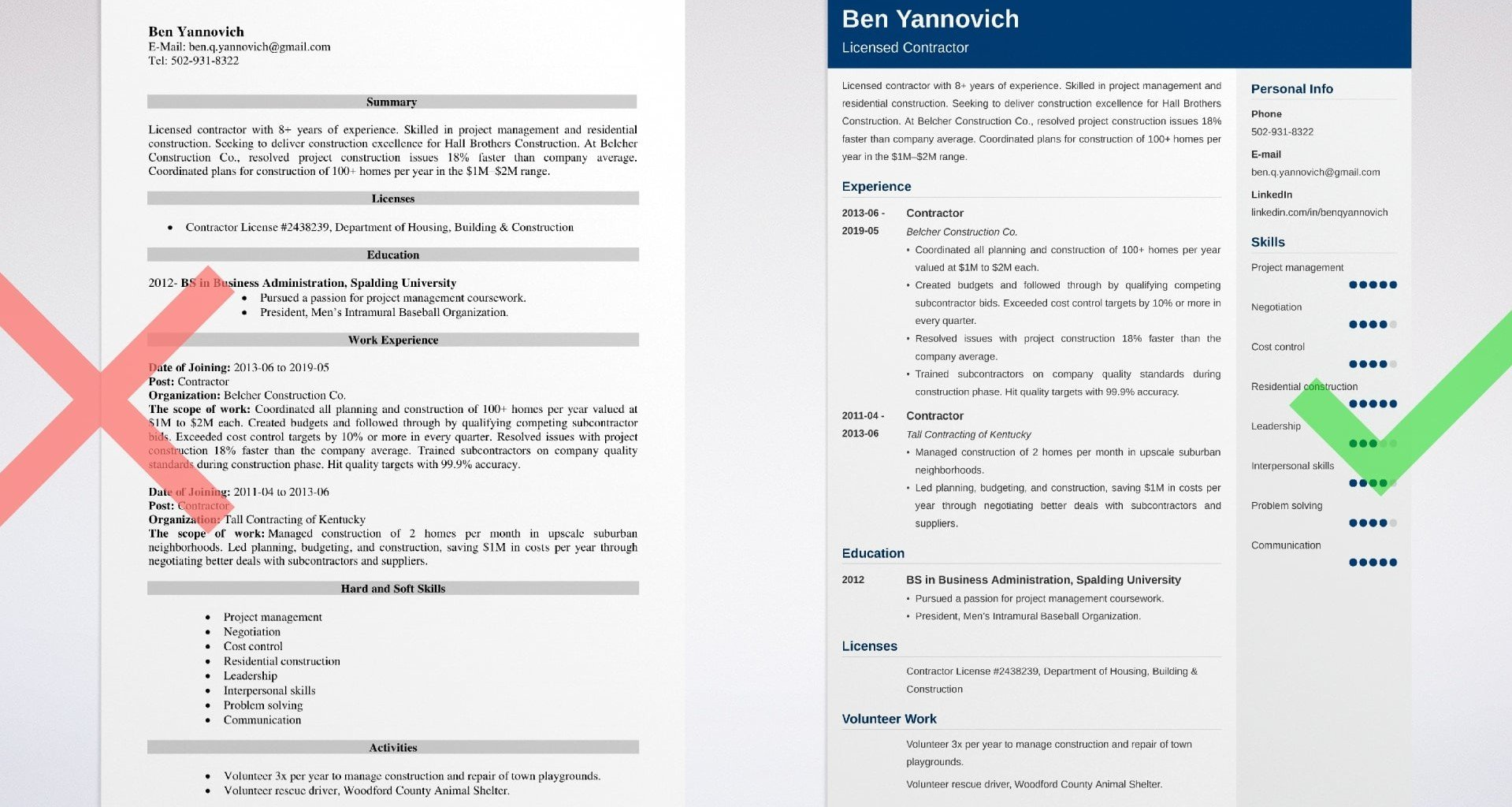 contractor resume samples general independent more self employed example basic work Resume Self Employed General Contractor Resume
