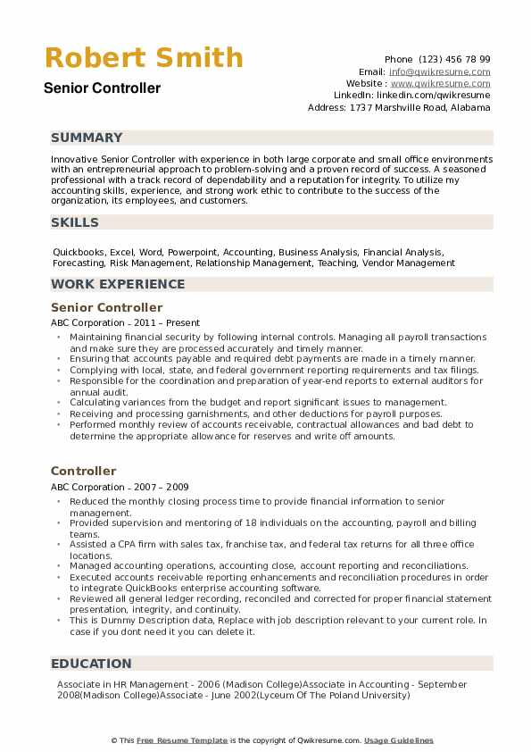 controller resume samples qwikresume financial summary pdf digital marketing project Resume Financial Controller Resume Summary
