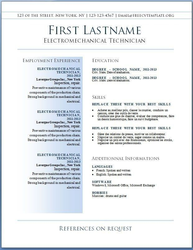 cool cv resume template collection di best free templates word downloadable printable Resume Free Printable Sample Resume Templates