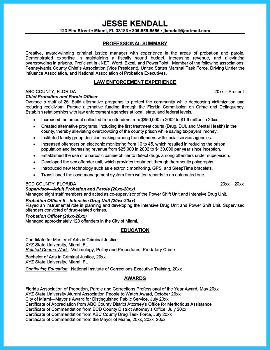 correctional officer cover letter samples no experience sample federal resume passionate Resume Federal Correctional Officer Resume