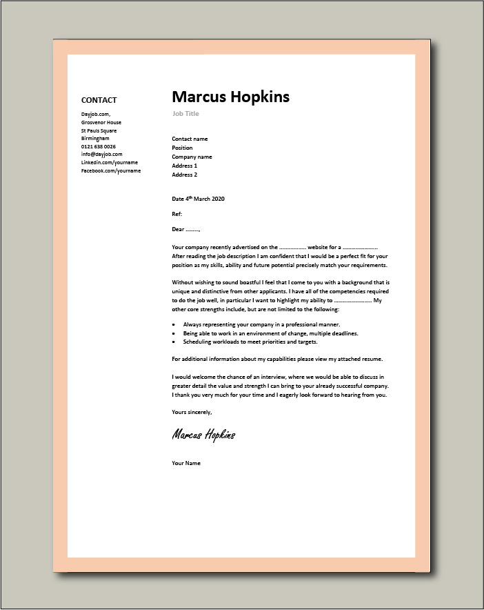cover letter examples for different job roles in dayjob should you always send with Resume Should You Always Send A Cover Letter With A Resume