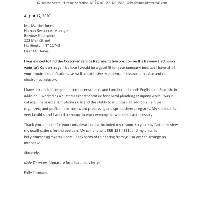 cover letter layout example and formatting tips resume sample objective for any position Resume Resume Cover Letter Layout