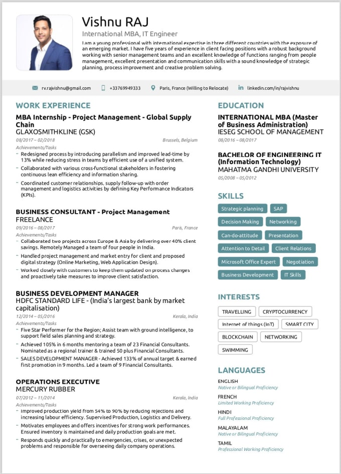 create ats friendly cv resume and cover letter by vishnuraj007 making your writing career Resume Making Your Resume Ats Friendly