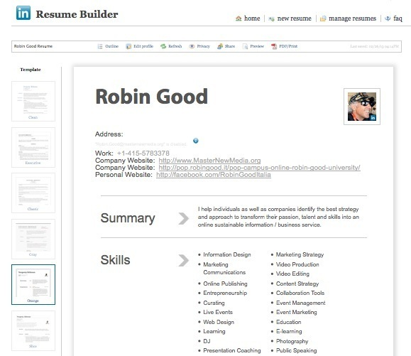 create professional looking cv in seconds wit linkedin resume builder tool acting format Resume Linkedin Resume Builder Tool
