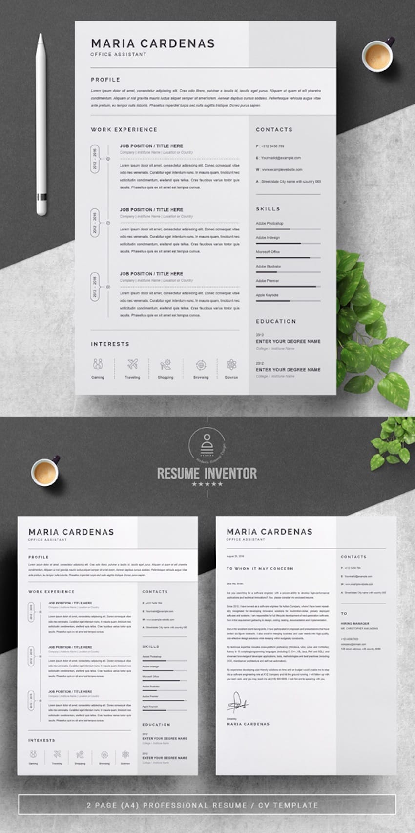 creative dynamic resume cv templates for professional jobs in and en one template server Resume Professional And Creative Resume Templates