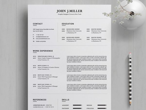 creative resume cv template free resumekraft word 600x450 security guard objective truck Resume Resume Template 2020 Free