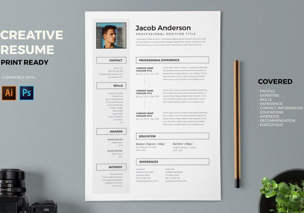 creative resume template free word maxresumes professional and templates 1000x700 Resume Professional And Creative Resume Templates