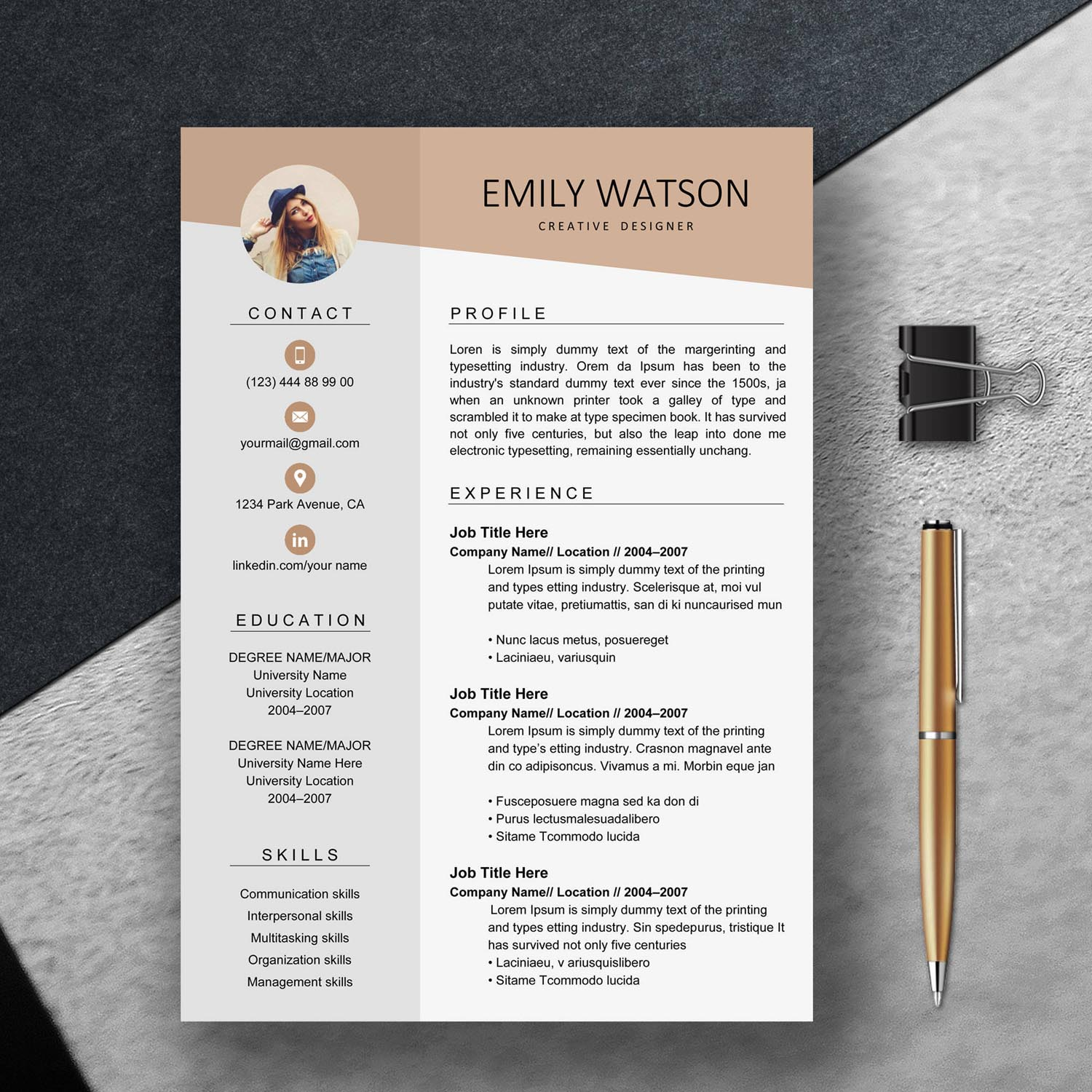 creative resume template graphic worker exclusive cv google docs templates architectural Resume 2020 Resume Templates Google Docs
