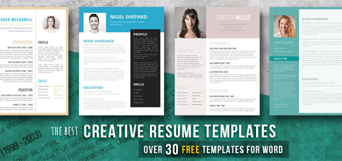 creative resume templates get the job you deserve freesumes unique free first time for Resume Unique Resume Templates Free