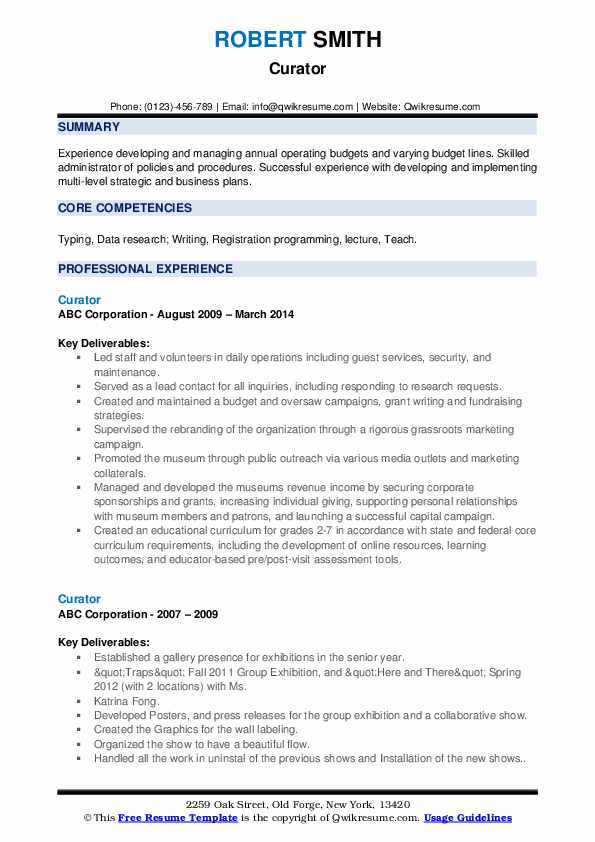 curator resume samples qwikresume entry level museum pdf sample for college student with Resume Entry Level Museum Resume