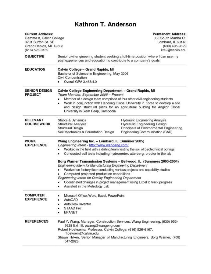 current college student resume template examples format for students project coordinator Resume Resume Format For Students