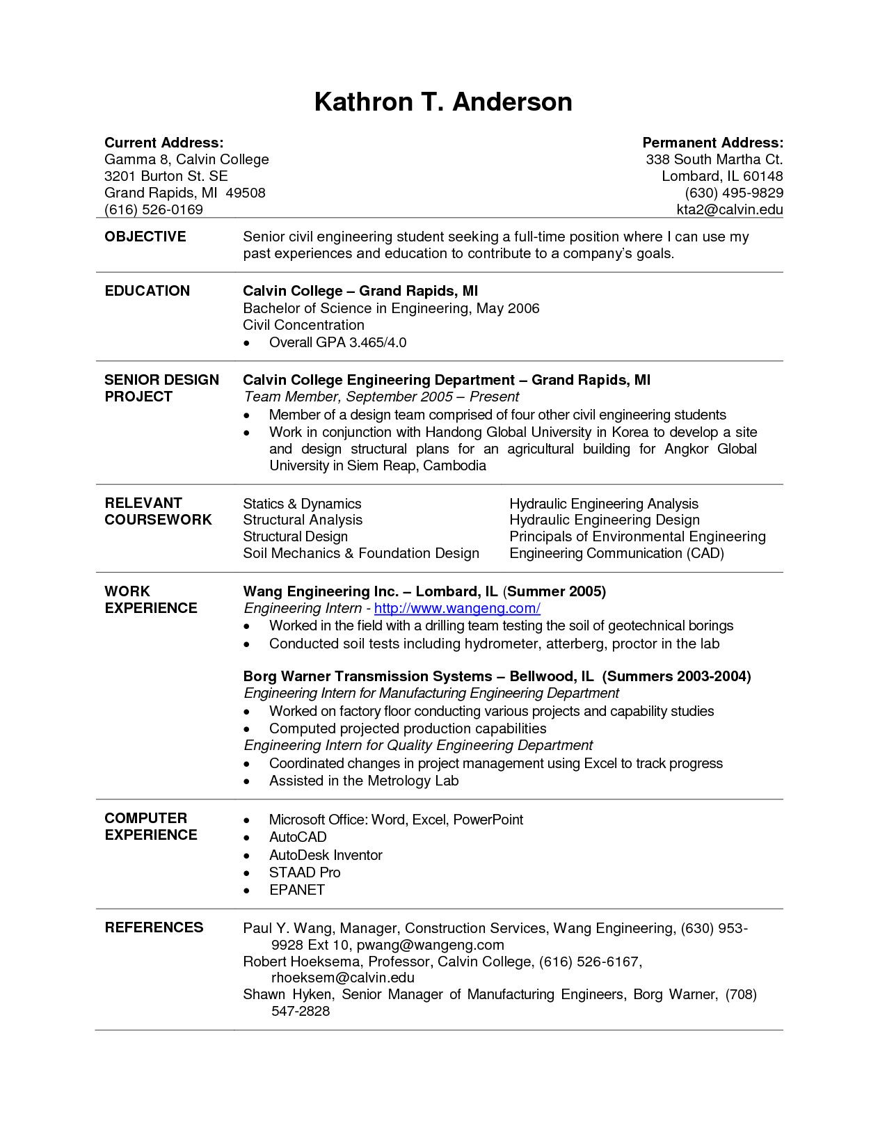 current college student resume template examples good food service new grad scientific Resume Good College Resume Examples
