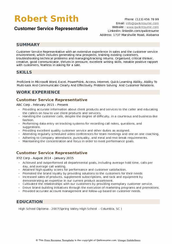 customer service representative resume samples qwikresume summary examples for pdf Resume Resume Summary Examples For Customer Service