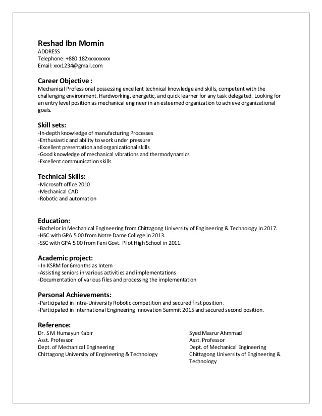 cv entry level mechanical engineer good engineering resume student another name for Resume Good Mechanical Engineering Resume