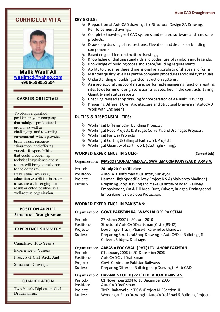 cv for autocad draftsman resume template lva1 app6892 thumbnail interview email icon Resume Autocad Resume Template