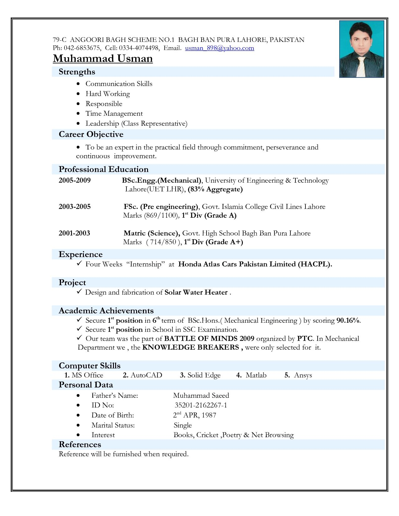 cv format for engineers resume freshers job best experienced account executive keywords Resume Best Resume Format For Experienced Engineers