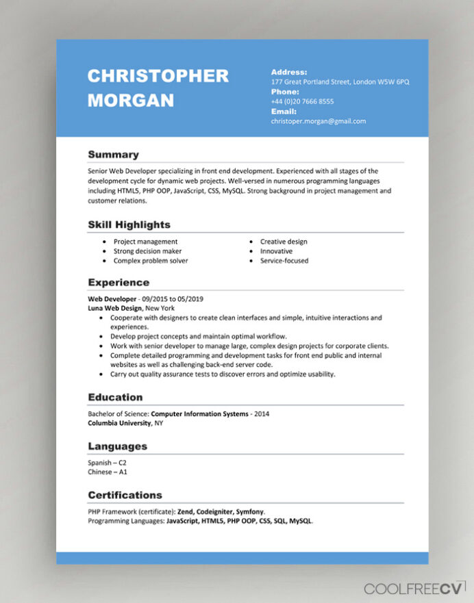 cv resume templates examples word format pdf template should include references server Resume Resume Format Download Pdf