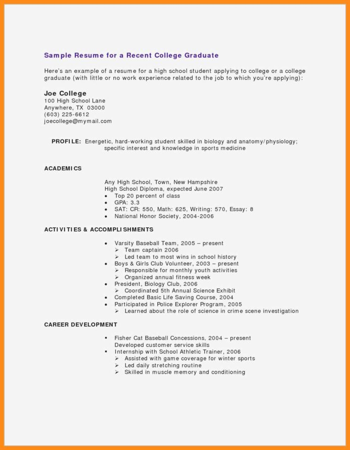 cv samples for students with no experience pdf resume teenager little work microsoft one Resume Resume Format No Work Experience
