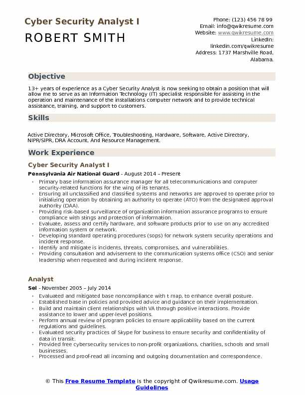 cyber security analyst resume samples qwikresume cybersecurity examples pdf best for Resume Cybersecurity Resume Examples