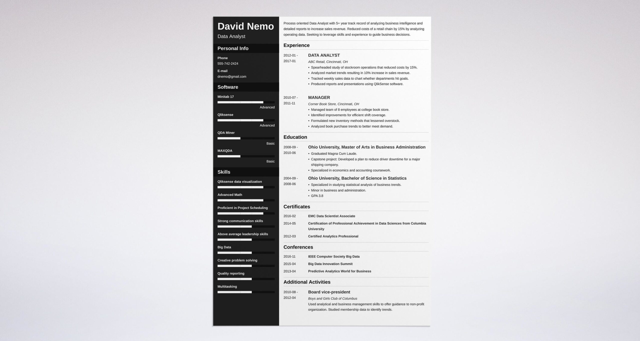 data analyst resume examples also entry level best format for big sample cna headline Resume Best Resume Format For Data Analyst