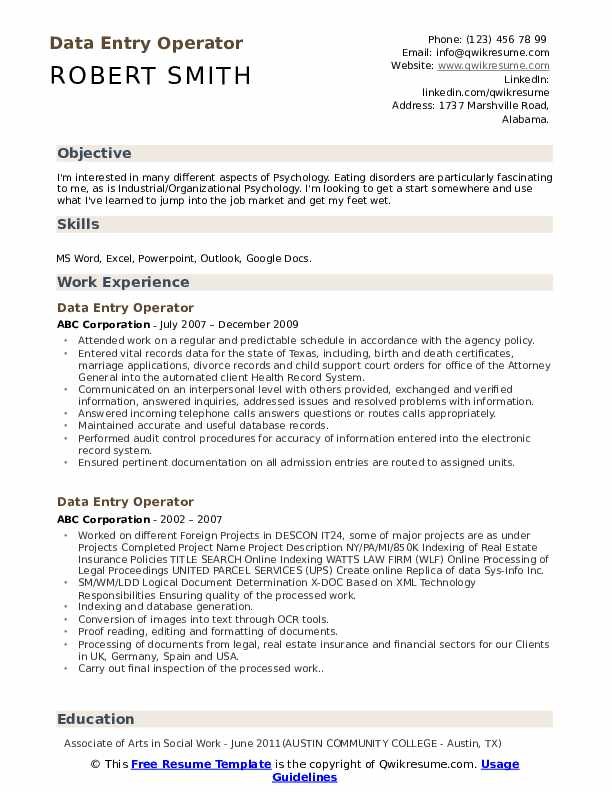 data entry operator resume samples qwikresume profile pdf collection agent job Resume Data Entry Profile Resume
