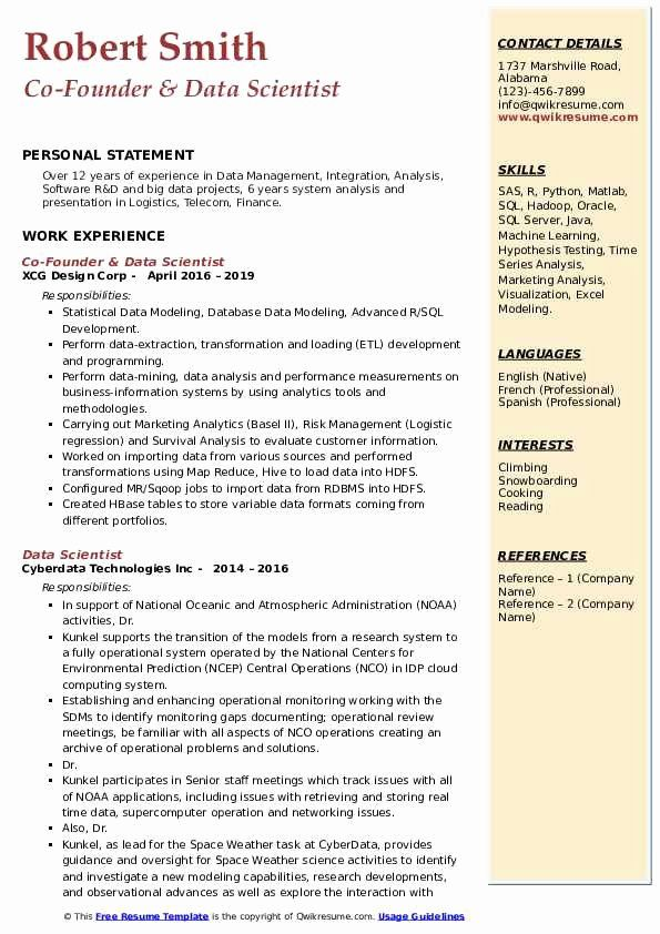 data science resume examples lovely scientist samples sample foreman advice with writing Resume Data Science Resume Sample