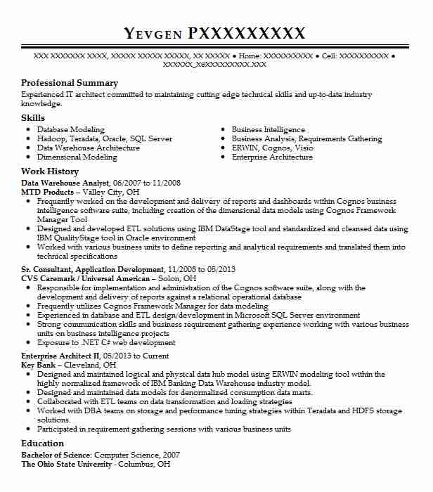 data warehouse analyst resume example resumes livecareer good objective for massage cover Resume Good Objective For Resume Warehouse