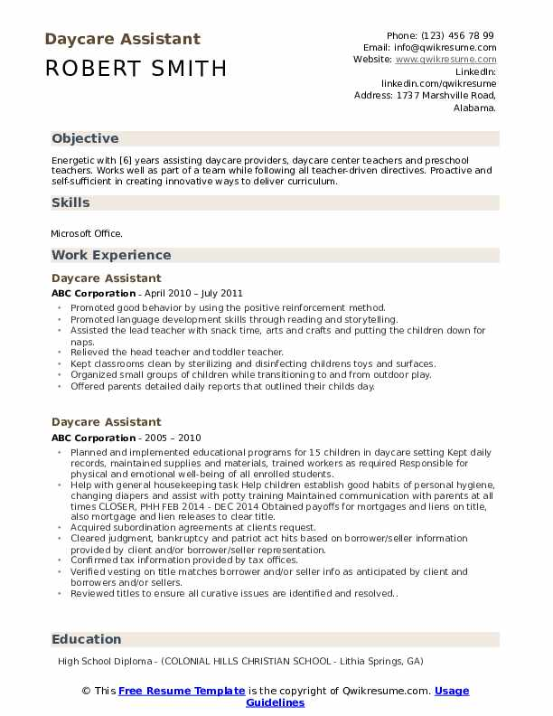 daycare assistant resume samples qwikresume teachers pdf nanny duties for job high school Resume Daycare Teachers Assistant Resume
