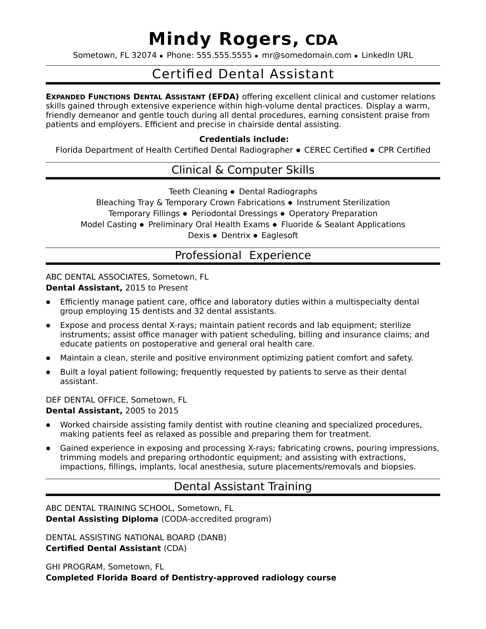 dental assistant resume sample monster school application examples emailing your for job Resume Dental School Application Resume Examples