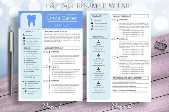 dental assistant resume template for word dentist etsy medical free templates nice Resume Free Dental Resume Templates