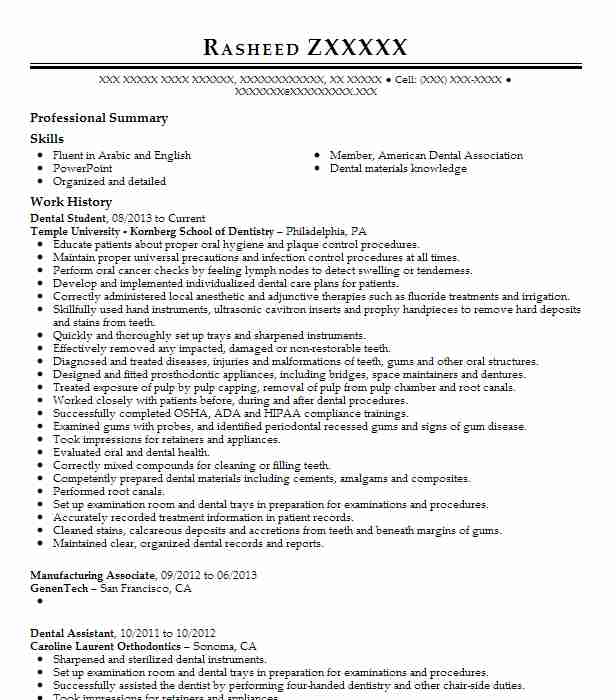 dental student resume example give kids smile utsd school application examples objective Resume Dental School Application Resume Examples