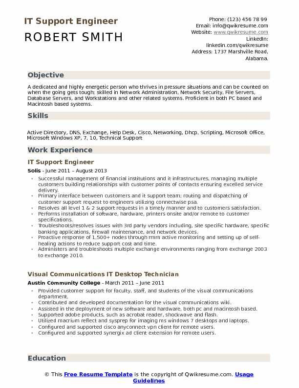 desktop support engineer resume project manager job samples free look political candidate Resume Desktop Support Engineer Resume Free Download