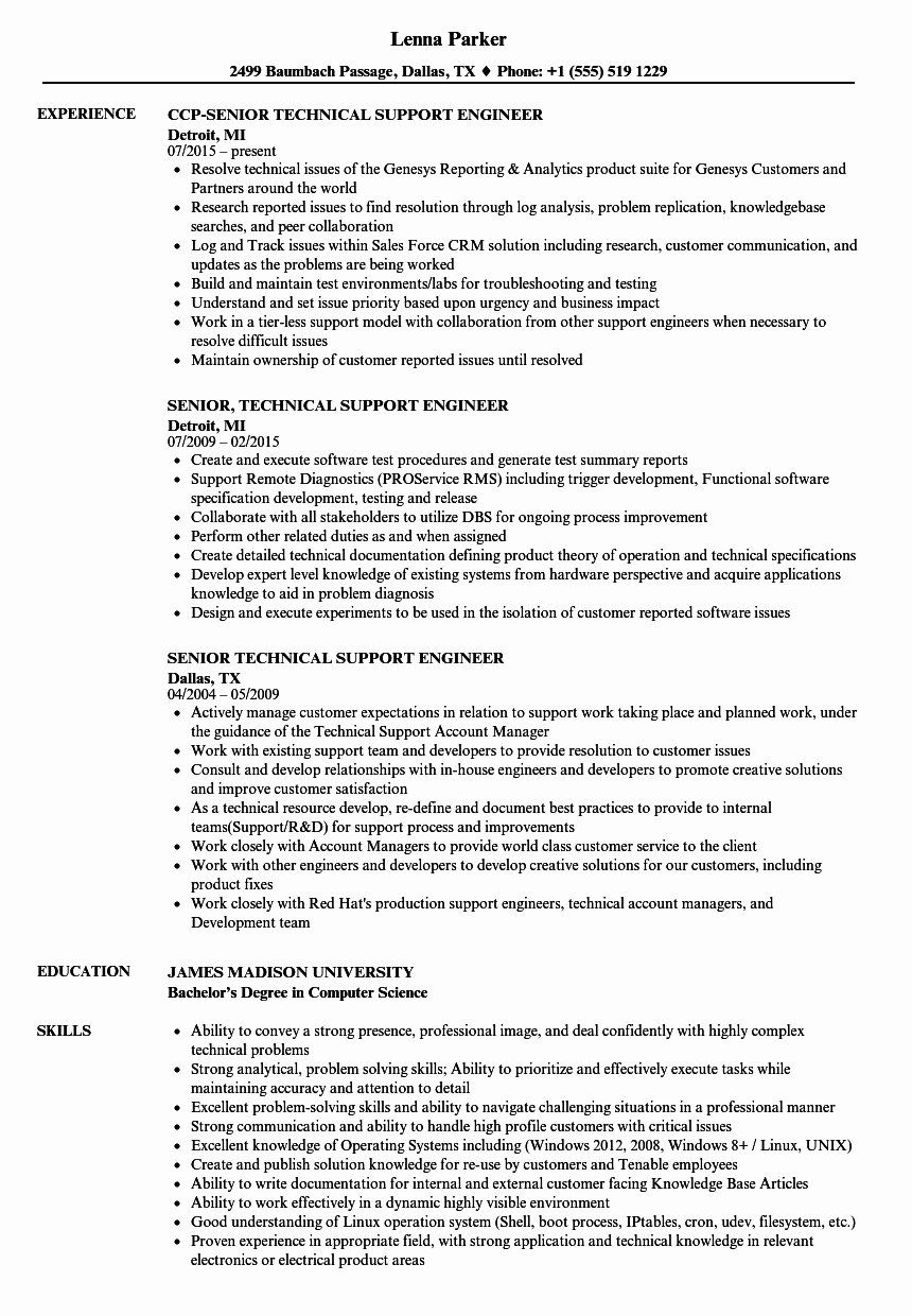desktop support technician resume best of format for engineer l2 examples job outline Resume Desktop Support Engineer Resume