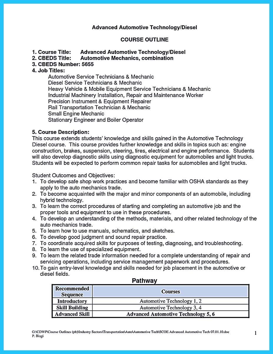 diesel technician resume mechanic examples auto operations specialist army conducted Resume Diesel Mechanic Resume Examples